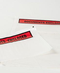Paklijstenveloppen, bedrukt 'documents enclosed', 235 x 132 mm-0