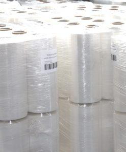 Palletwikkelfolie, machinerollen, 270% rek, transparant, 23 My dik, 50 cm x 1.500 m per rol-0
