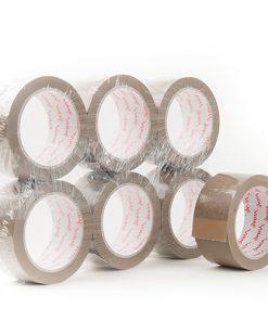 Tape, PP hotmelt, bruin, 48 mm x 66 m per rol, 36 rol per doos-0