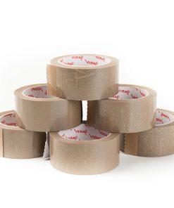 Tape, PVC, bruin, 48 mm x 66 m per rol, 36 rol per doos-0