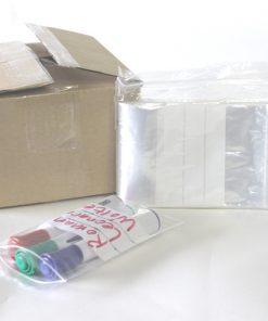 Gripzakken, LDPE, 50 My, transparant met schrijfvlak, 60 x 80 mm-0