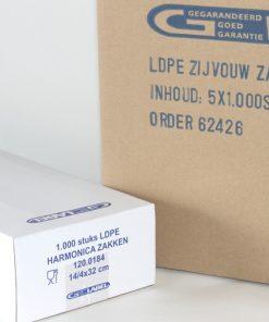 Harmonicazakken, LDPE, 20 My, 180 x 40 x 500 mm-0