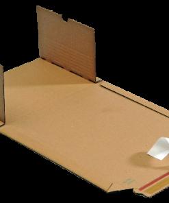 Boekverpakking, wikkelverpakking, bruin, 325 x 250 x 20-75 mm-0